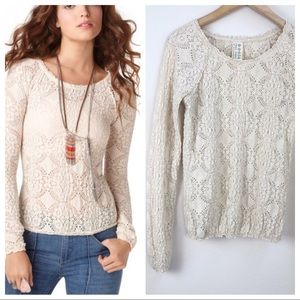 Free People Sunny Pucker Top Size Large